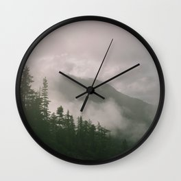 Foggy Forest (Squamish, British Columbia, Canada) Wall Clock
