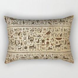 Ancient Egyptian hieroglyphs - Vintage and gold Rectangular Pillow