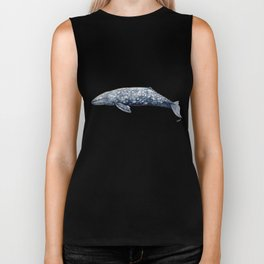 Grey whale Biker Tank