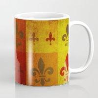 fleur de lis Mugs featuring Fleur de lis #3 by Camille