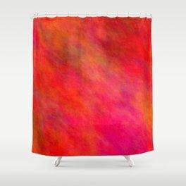 Firebrick Color Shower Curtain