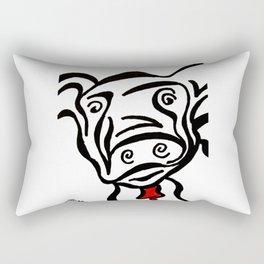 Red Cow Rectangular Pillow