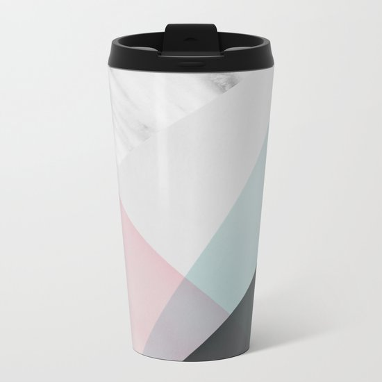 Scandinavian Mood Geometry Metal Travel Mug