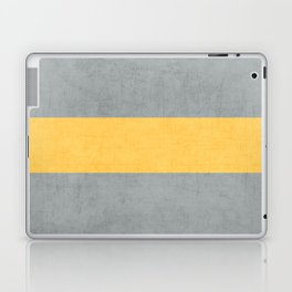 gray and yellow classic Laptop & iPad Skin