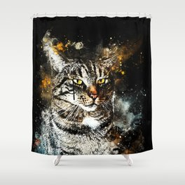 koko the cat wsstd Shower Curtain