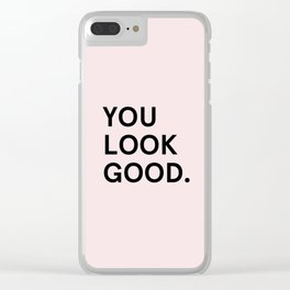 Glossier - YOU LOOK GOOD Clear iPhone Case