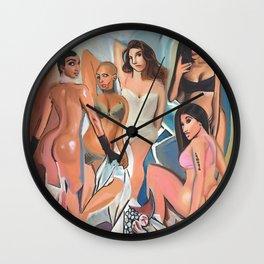 Les Demoiselles d' Los Angeles by The Producer BDB Wall Clock