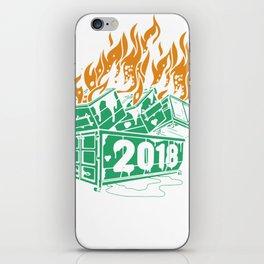 Dumpster Fires 2018-2 iPhone Skin