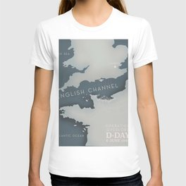 D-Day Operation overlord Military poster T-shirt