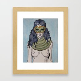 Snake Scarf Framed Art Print