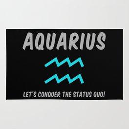 Aquarius: Let's Conquer The Status Quo! Rug