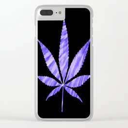 Weed : High Times Purple Blue Clear iPhone Case