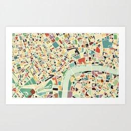 CITY OF LONDON MAP ART 01 Art Print