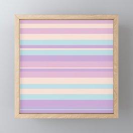 Pattern Bandes Couleurs Pastels Framed Mini Art Print