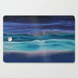 Alcohol Ink Seascape 3 - Sea at Night Cutting Board