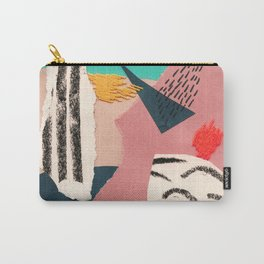 abstract collage with embroidery Carry-All Pouch