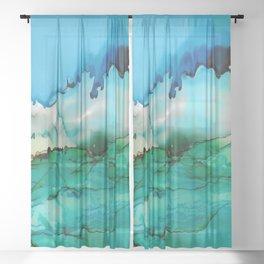 Storm Brewing Sheer Curtain