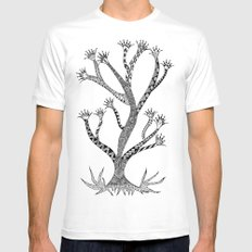 Alluring Tree MEDIUM White Mens Fitted Tee