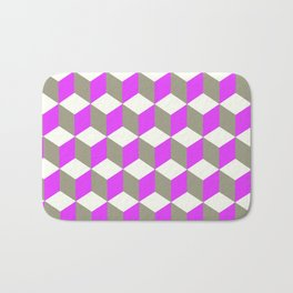 Diamond Repeating Pattern In Ultra Violet Purple and Grey Bath Mat
