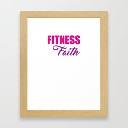 Fitness and Faith Committed to Both Married Gym Jesus Tee Framed Art Print