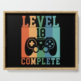 Birthday Level 18 Complete Gaming Serving Tray