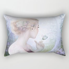 Princess in royal garden Rectangular Pillow