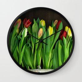 tulips wall Wall Clock