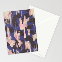 Paint Marks Camo Abstract Pattern Stationery Cards