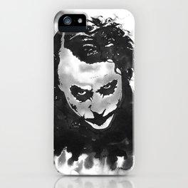 The joker in B&W iPhone Case