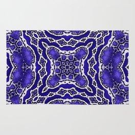 abstract jewel cobalt Rug