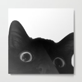 Here's lookin' at mew Metal Print
