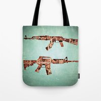 camouflage Tote Bags featuring camouflage by Steve W Schwartz Art