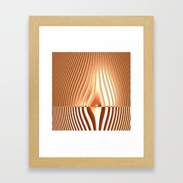 Bending the Bars of Rules - Pure Fractal Abstract Framed Art Print