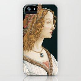 Sandro Botticelli, Idealized Portrait of a Lady, 1480 iPhone Case