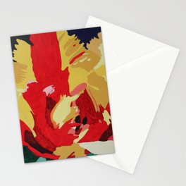 Parrot Tulip Abstract Stationery Cards