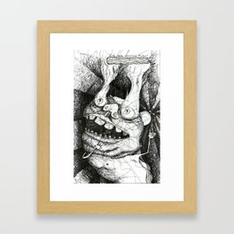 Smoke All Over the Place. Framed Art Print