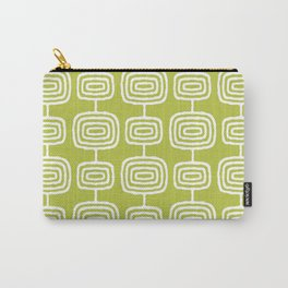 Mid Century Modern Atomic Rings Pattern Chartreuse Carry-All Pouch