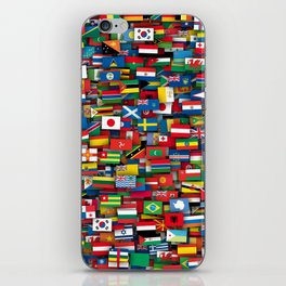Flags of all countries of the world iPhone Skin
