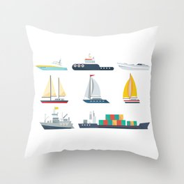National Maritime Day Throw Pillow