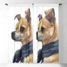 Chug Chihuahua Pug Mix Portrait Blackout Curtain