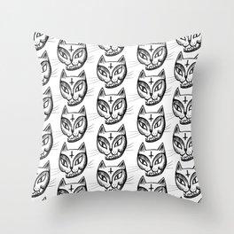 Satan Kitty Throw Pillow