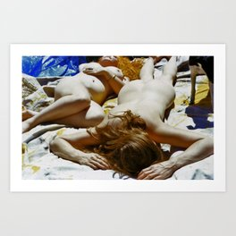 Nude Friends  Art Print