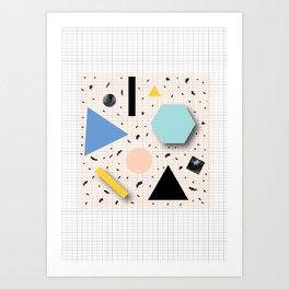Shapes Everywhere Art Print