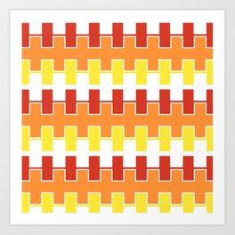 Zipper Pattern Art Print