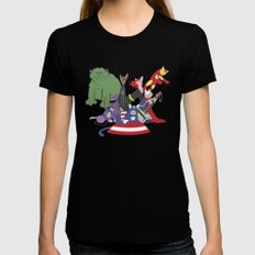 The Catvengers - Earth's Mightiest Kitties Black Womens Fitted Tee LARGE