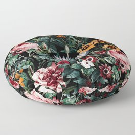Midnight Garden III Floor Pillow