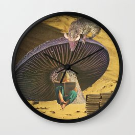 early on she'd learned the art of escape Wall Clock