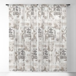 Country Western Sheer Curtain