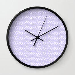 mojave, lilac tribal pattern Wall Clock
