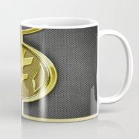 power ranger Mugs featuring White Ranger Vest by Joshua Epling